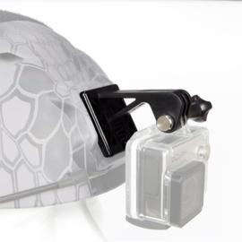 Kunststof helmet mount Helmsteun voor GOPRO actioncam camera voor MICH FAST helm - ZWART (zonder helm)