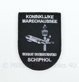 KMAR Koninklijke Marechaussee Brigade Grensbewaking Schiphol embleem - met klittenband - 8 x 6 cm