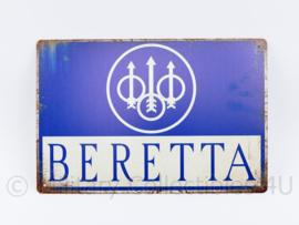 Metalen plaat Beretta Firearms - 30 x 20 cm.