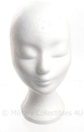 Hoofd wit piepschuim - voor hoofddeksels