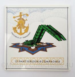 KL Landmacht wandbord/tegeltje 13e Pantser Genie Compagnie - afmeting 15 x 15 cm - origineel