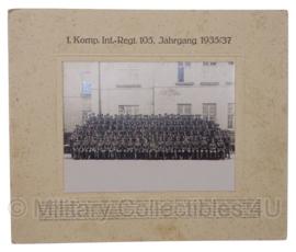 WO2 Duitse eenheid foto - Infanterie Regiment - 36 x 30 cm - origineel