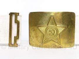 Russische WITTE parade koppel met gouden metalen slot - origineel