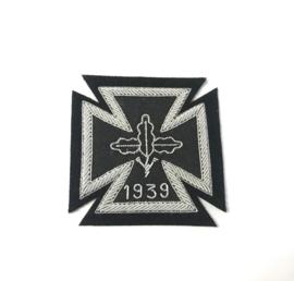 Duits kruis 1e klasse Ijzeren Kruis EK1 1914 in stof - zonder swastika