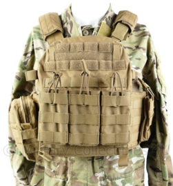 Defensie Warrior Assault Systems  plate carrier DCS DA inclusief tassen Coyote - origineel