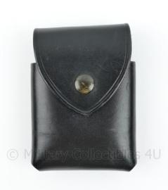 Britse politie koppeltas zwart leder - 12 x 8,5 x 3 cm - nieuw - origineel