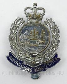 Royal Hong Kong Police pet insigne - Zeldzaam - afmeting 3,5 x 5 cm - origineel