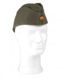 DDR Grijs schuitje Manschap (grof wol)- ook als wo2 Duits bruikbaar - 56, 57 of 58 cm. origineel