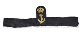 Koninklijke  Marine platte pet insigne met band - 29 x 8 cm - origineel