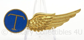 KLu Luchtmacht halve Wing T Telegrafist - oud model London - afmeting 2 x 6,5 cm - origineel