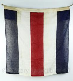 Wo2 British Royal Navy signaal vlag Dettra flag co MFG - gebruikt - 83x90x0,1 cm - origineel