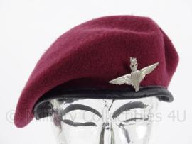 Britse Parachute Regiment Airborne baret met insigne - meerdere maten - replica