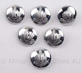 Gemeentepolitie knoop los - zilverkleurig - 23 mm - origineel