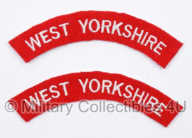 WO2 Britse shouldertitle set - West Yorkshire - replica