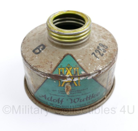 Wo2 Duitse Civiele gasmasker filter Drager - maker Adolf Wuttke - gebruikt - origineel