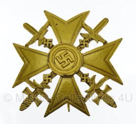Spanienkreuz met zwaarden in Goud