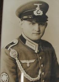 Foto gebirgsäger Waffenrock met schutterskoord - 22 x 17 cm origineel