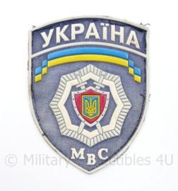 Oekraïens politie embleem Ukraine Ykpaiha MBC  - 12 x 9 cm - origineel