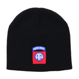 82nd Airborne US jeepcap beenie BLACK - acryl