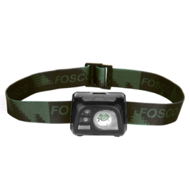 Tactical hoofdlamp Fosco met sportlicht en schijnwerper - groen of zwart