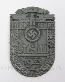WO2 Duits schild NSKK Sternfahrt 1933 Breslau - afmeting 5,5 x 9 cm - replica