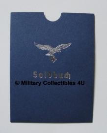 Soldbuch cover blauw/zilver - Luftwaffe