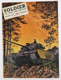 The British Army Magazine Soldier October 1953 -  Afkomstig uit de Nederlandse MVO bibliotheek - 30 x 22 cm - origineel