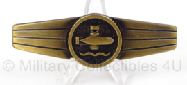 BW Bundeswehr borstspange Tatigkeitsabzeiche brons - Underwater weapons staff activity badge - afmeting 8 x 2 cm - origineel