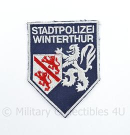 Zwitsers embleem Stadpolizei  Winterthur - 11 x 8 cm - origineel