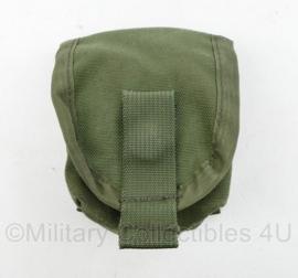 Defensie en Korps Mariniers Profile Equipment handgranaat tas groen - mist drukknoop - 11 x 9 x 5,5 cm - origineel