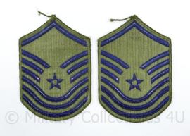 USAF US Air Force rang embleem paar - Senior Master Sergeant - 14,5 x 10 cm - origineel