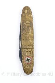Replica Wo2 Duits zakmes Adolf Hitler - messing - 9 x 2 cm - replica