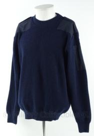 Nederlandse commando trui - donkerblauw - ronde  hals - maat 5 - origineel