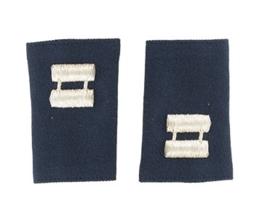 US Navy Dark Blue Captain  schouderstukken epauletten - Class A Wit op blauw - origineel US Army