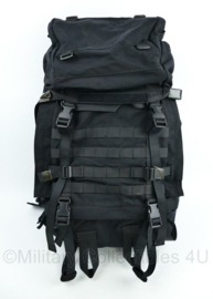 KL Nederlandse leger Defensie rugzak zwart - model 60 liter - licht gebruikt - 65 x 35 x 24 cm - origineel