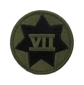 US Army 7th Corps VII Corps patch - subdued - 7,5 cm diameter - origineel