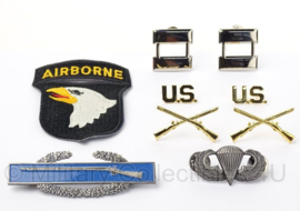 US officer insigne set Captain 101st Airborne Division