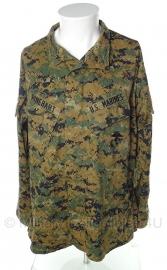 US Marine Corps Marpat jas - Digital Woodland - med-reg - met insignes - origineel