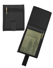 Etui voor A6 notitieblok zwart (zonder notitieblok) - 16 x 14 cm.