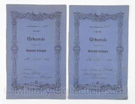 2 Notariële documenten Duits 1920 - origineel