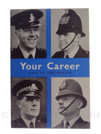 "Boek ""your career, life in the police"" - Brits - 1959 - origineel"