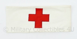 Vintage katoenen Rode kruis armband  - Smal model - origineel