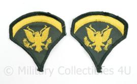 Vietnam oorlog rangen paar - rang Specialist - 8 x 7,5 cm - origineel