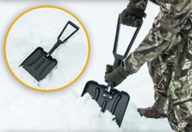 Opklapbare zwarte ABS schep sneeuwschep - nieuw