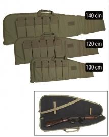Geweer tas  geweer foudraal - rifle case in 100,120 of 140 cm lengte - Groen