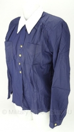 Dames blouse Zweedse marine - blauw met witte kraag - origineel