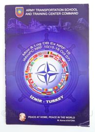 Turkse leger informatie brochure - Izmir - ATSTC -  Mov & Log DB Ex NRF 10. - 14 x 22 cm - origineel