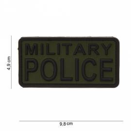 Embleem PVC 3D PVC - Military Police  - GROEN - 9,8 x 4,9 cm
