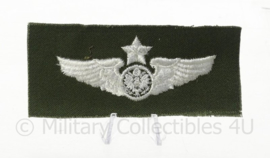 US Senior wing embleem voor op de borst - groen - 10 x 5 cm - origineel