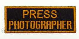 WO2 US Army Press Photographer embleem - 3,8 x 10,2 cm - replica